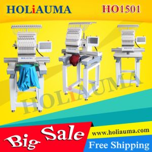 Holiauma New 15 Colors Single Head Computerized Embroidery Machine for Cap/T-Shirt/Flat Garment Multi Embroidery pictures & photos
