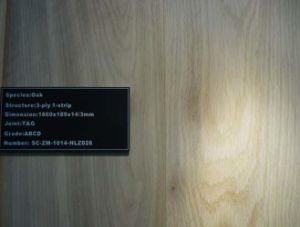 125X18mm UV Handscraped Oak Engineered Wood Flooring pictures & photos