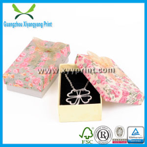 Elegant Custom Balck Color Paper Jewelry Necklace Box with Logo pictures & photos