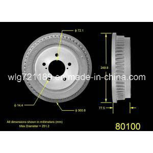 Car Brake Drum 80002 for Gmc pictures & photos