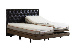Electric Adjustable Bed with Memory Foam Mattress 2 Single Size Combined King Size pictures & photos