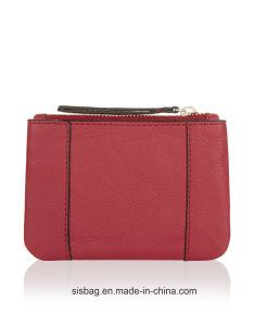New Fashion PU Coin Purse Red Color Makeup Bag pictures & photos