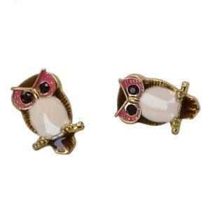 Cute Enamel Black Acrylic Eyes Owl Stud Earrings pictures & photos