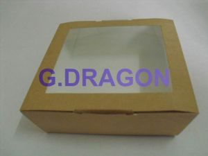 Customed Kraft Paper Cardboard Cake Box with Film Windows (GD-CCB02) pictures & photos