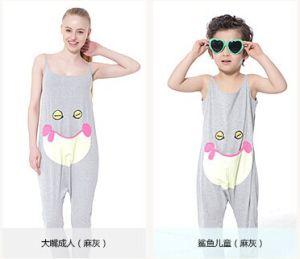 Kuka Cartoon Smiley Sleeveless Onesie Vest Pajama Cool Home Wear Pants