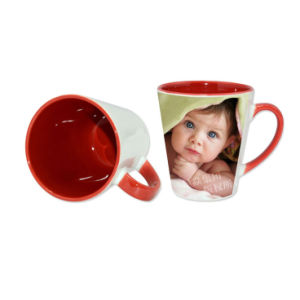 Sublimation Red Inner &Rim Color Latte Mug pictures & photos