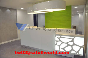 Tw Modern White and Green Recepton Desk Small Office Reception Desk pictures & photos