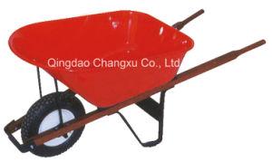 Construction Garden Use Wood Handle Wheelbarrow