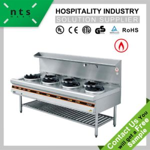 Stainless Steel Gas Stove Chinese Cooking Range pictures & photos