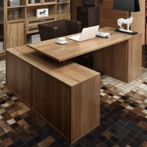 Oppein Melamine Simple Design Wood Office Computer Table (ST21457) pictures & photos