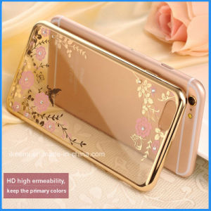 Luxury Rose Gold TPU Plating Plated Edge Soft Clear Case for Samsung S7 Edge pictures & photos