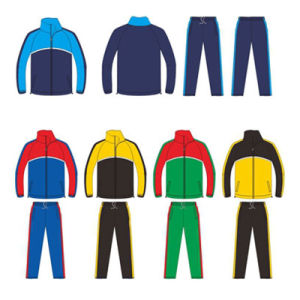 Custom Football Tracksuit Warm up Suit Jacket and Pants for Mens pictures & photos
