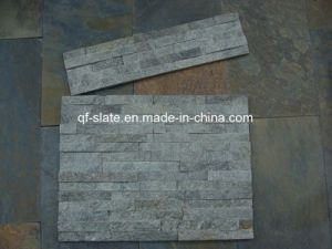 Natural Green Quartzite Panel Stone 60X15cm for Wall Coverings