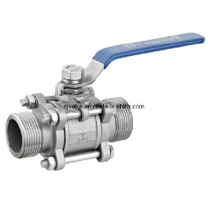 CE 3PC Male Thread Ball Valve pictures & photos