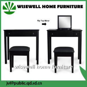 Fashionable Furniture Dressing Table with Stool (W-HY-023 BK) pictures & photos