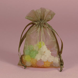 Exquisite Organza Drawstring Bag for Gift Package (AM-OB001)