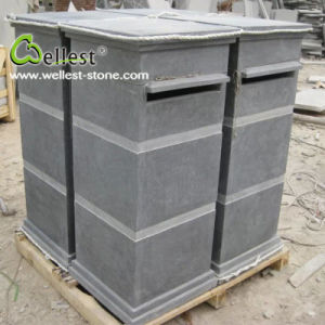 Natural Blue Limestone Home Garden Mail Box pictures & photos