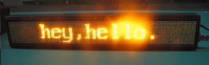 LED Message Sign (Two Lines PH4.75 16*128 RG)