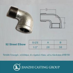Ulfmcegalvanized Malleable Pipe Fitting 92 M&F Threaded Elbow pictures & photos