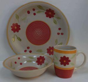12PCS Ceramic Hand Painted Dinnerware Set (WSY1020S)
