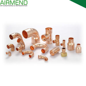 Copper Fitting Coupling Reducer Elbow 45 Degree 90 Degree Tee P-Trap Adapter Union