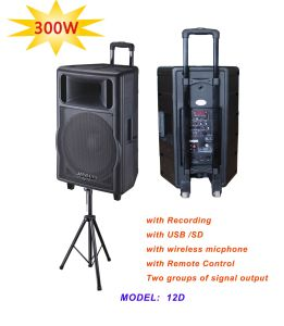 Battery Speaker with Handles and Trolley Wheels /Battery Built in Speaker