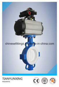 Wafer NBR Seat Air Actuator/Pneumatic Butterfly Valves pictures & photos
