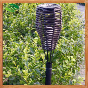 Outdoor Solar Power Rattan Torchieres LED Light pictures & photos