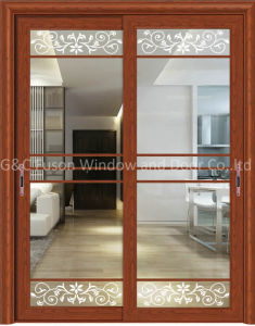 2017 New Arrival Aluminum Frame Tempered Glass Sliding Patio Doors pictures & photos