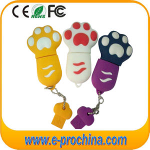 PVC Dog Feet Shape Colorful Keychain USB Flash Drive (EP283) pictures & photos