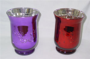 Home Decor Silver Plated Tea Light or Votive Glass Candle Holder pictures & photos