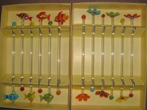 Glass Swizzle Sticks, Glass Cocktail Stirrer