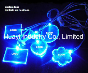 Custom LED Light up Necklaces pictures & photos