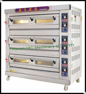 Three Layers and Nine Trays HXY-3-9DW Pizza Gas Oven pictures & photos