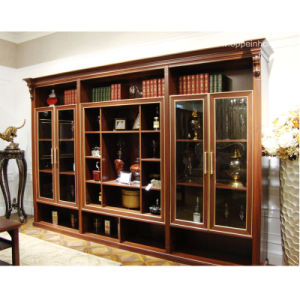 Oppein Brown America Style Wood Decorative Cabinets (ZS21121A325) pictures & photos
