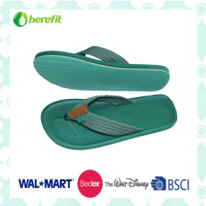 TPR Sole and PU Straps, Men′ Beach Slippers pictures & photos