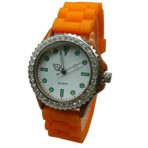 Silicone Wristband Watches With Diamond for Promotional Gifts
