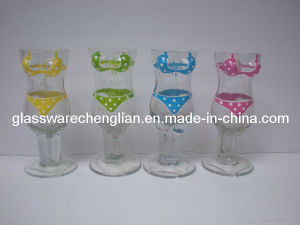 Set of 4PCS of Handpainted Bikini Shot Glass Sets (B-589) pictures & photos
