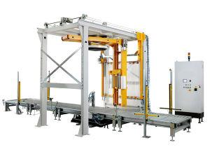 Rotary Arm Wrap Machine with Top Plate & Top Sheet Dispenser (DR1800FZ-PL-FM-CS/B)