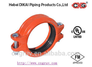 FM UL Approved Grooved Fittings Ductile Iron Grooved Coupling in Pipe Fittings pictures & photos