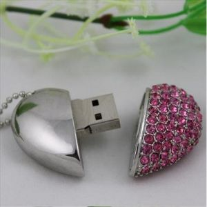 Read Heart USB Flash Drive Disk Jewelry Gift pictures & photos