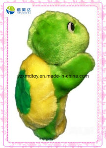 Funny Plush Green Turtle Puppet for Kids Toy Supplier pictures & photos