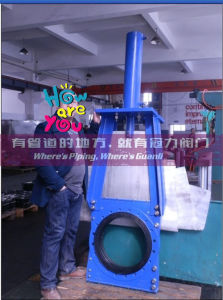 Ductile Iron Slurry Knife Gate Valve with Hydraudic Actuator pictures & photos