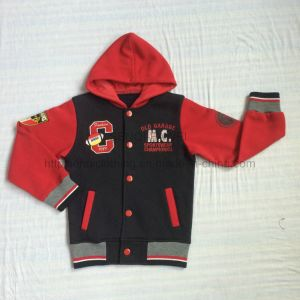 Winter Boy Fleece Baseball Hoodies Clothes in Kids Sport Wear Clothing Sq-6228 pictures & photos