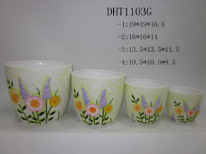 Ceramics Flower Pot (DHT)