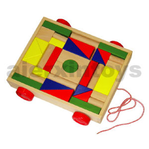 Wooden Blocks on Wheels (36PCS) (80025) pictures & photos
