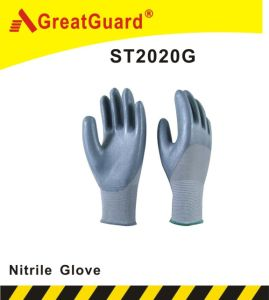 3/4 Coated Regular Smooth Nitrile Glove pictures & photos