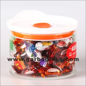 0.6L Glass Storage Jar with Cover (GB-8401) pictures & photos