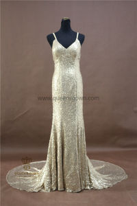 OEM Factory Custom Made Sexy Sequin Party Gown Long Evening Dresses