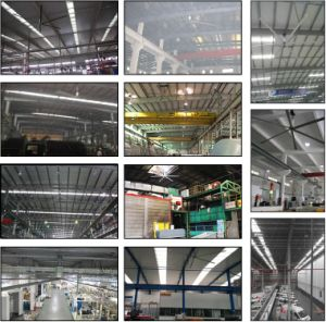 Higher Comfortable Degree of Human Body 3.5m (11FT) -7.4m (24FT) Workshop-Use Ceiling Fan
